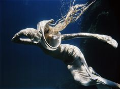 """Medusa"" underwater fashion photography ©peter de mulder"