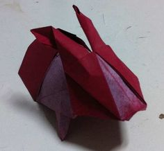Animal - Origami Red Rabbit