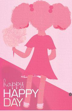 Pink Happy, Happy Day by Shelley Worsham, via Behance