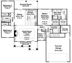 Beautiful Craftsman Styling (HWBDO64700) | Craftsman House Plan from BuilderHousePlans.com---possible with mods...pinned already i think