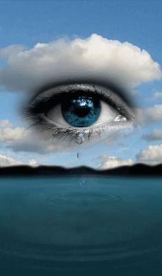 Tears Art, Tears In Eyes, Angel Artwork, Eyes Artwork, Love Wallpapers Romantic, Beautiful Nature Wallpaper, Beautiful Fantasy Art, Beautiful Gif, Gif Bonito