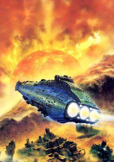 Space Future, Retro-Futurism, Spaceship, Starship, Chris Foss.