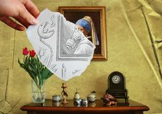 Pencil Drawing Vs Camera - 25 Creative Pencil Drawings by Ben Heine Creative Pencil Drawings, Hand Drawings, Forced Perspective Photography, Perspective Photos, Ben Heine, Camera Art, Pencil Camera, Drawn Art, Draw On Photos