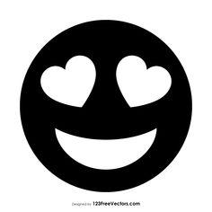 Black Smiling Face with Heart-Eyes Emoji  - https://www.123freevectors.com/black-smiling-face-with-heart-eyes-emoji-85627/