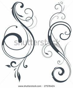 Vectorized Scroll Design. Elements can be ungrouped for easy editing. by Romanova Ekaterina, via Shutterstock