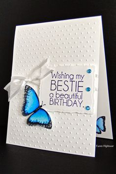 Karen's Creative Mess - Karen Hightower created card using the butterfly stamps in the 'Ang and Me' kit by Gina K.
