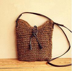 Dual-use Bags, Rattan Straw Bags, Tassel Bucket Diagonal Package, Casual Shoulder Package (141072010) (Brown) Juniorpartner http://smile.amazon.com/dp/B00LSEMH76/ref=cm_sw_r_pi_dp_5gj1tb12WVFXQDW8