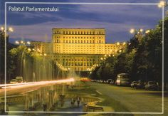 Palatul Parlamentului Palace of Parliament - în București. Bucharest, Romania, Big Ben, Palace, Louvre, Building, Postcards, Travel, Viajes