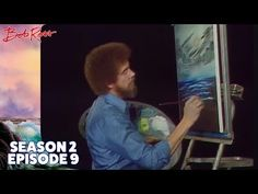 Bob Ross - Black and White Seascape (Season 2 Episode Painting Lessons, Painting Techniques, Painting Tutorials, Pinturas Bob Ross, Bob Ross Youtube, Robert Ross, Tin Can Art, Bob Ross Paintings, The Joy Of Painting