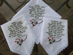 Perfect to give to dad before walking me down the aisle, put in coat pocket.  Give one to mom as well. Love!