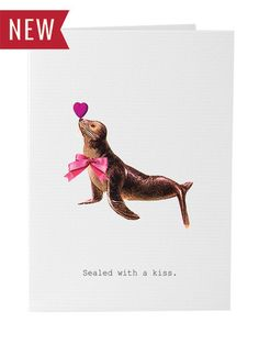 Sealed with a Kiss Valentine's Day Card