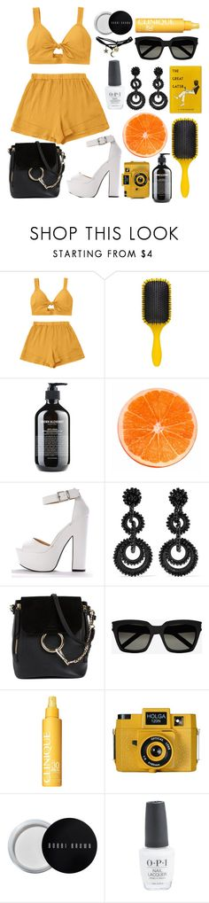 """soreto"" by jennyjump ❤ liked on Polyvore featuring Denman, Grown Alchemist, Bibi Marini, Chloé, Yves Saint Laurent, Clinique, Holga, Bobbi Brown Cosmetics and Wet Seal"