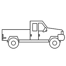 Truck Coloring Pages Enkelt Truck
