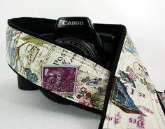 Camera Strap dSLR or SLR, Butterfly, Antique Vintage, Purple Martin, Birdwatcher, Canon or Nikon Strap, Camera Neck Strap, 155 w by ten8e on Etsy