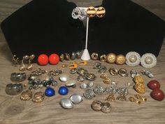 Vintage Clip On Earring Lot, Earring Lot, Adorable Earrings, 30+ Pair Clip On…