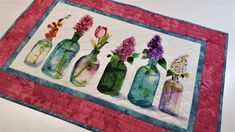 Quilted Table Runners, Mug Rugs, Table Toppers, Decorating Your Home, My Etsy Shop, Handmade Items, Artists, Quilts, Table Decorations