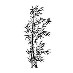 bamboo stencils for the wall | Wall Stencil Flora 360 Bamboo - STENCILS DESIGN -Wall Stencils and ...