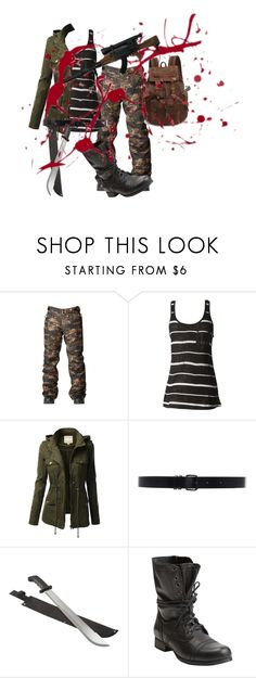 """Zombie Apocalypse"" by buggiez101 on Polyvore featuring Quiksilver, J.TOMSON, Ann Demeulemeester, Steve Madden and RIFLE"