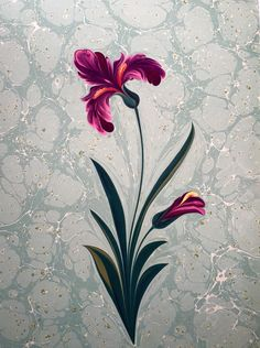 İris Çiçeği - Marbling Artist Firdevs Çalkanoğlu Ebru Art, Earth Pigments, Turkish Art, Marble Art, Iris Flowers, Pour Painting, Japanese Prints, Water Crafts, Islamic Art