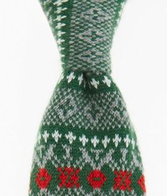 Men's Ties: Holiday Cashmere Knit Tie for Men