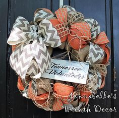 University of Tennessee Burlap Wreath UT Tennessee by JennaBelles