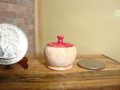 Dollhouse Miniature 1:12 Cookware & Tableware Canister Handcrafted OOAK #X7 #HandcraftedMiniaturesbyOppi