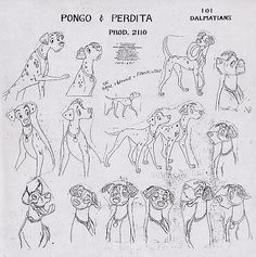Disney's 101 Dalmations model sheets