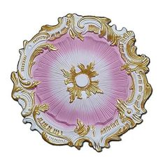 uDecor Hand-painted 16.75-inch Starburst Ceiling Medallion, White