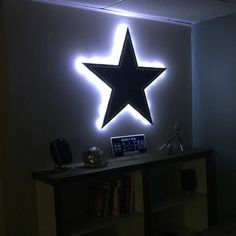The perfect gift for a Dallas Cowboys Fan Cave or the Dallas Cowboys Man Cave. Available in 3 sizes, this Dallas Cowboys light up sign is affordable for everyone!