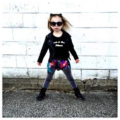 """Little Wonderland Clothing on Instagram: """"Get it Abby.... You work it with your rad little self.. <like a boss> Stylin in our Rock n Roll Muse Leo + rocker fringe shorts @pandthelion + shades @subsidyshades + little kitty ears @minitreschic  When toddlers are cooler than you! #littlewonderlandclothing #streetfashion #igbabies #kidslookbook #like4like #alternative #goodvibes #igkiddies #cuttingedgekids #toddlers #kidsfashion #instagood #ootd #potd #shopsmall #rocknroll #hipkids #music"""