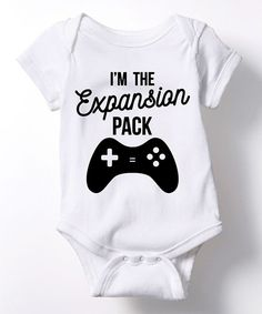 Look what I found on #zulily! White 'I'm the Expansion Pack' Bodysuit - Infant by KidTeeZ #zulilyfinds