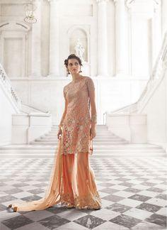 Intrinsic Peach Trendy Palazzo Salwar Suit