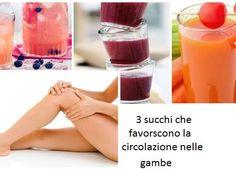 Succhi del tutto naturali per migliorare la circolazione sanguigna delle gambe