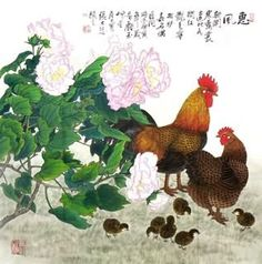 Trung Quốc Gà Tranh, 69cm x 69cm, 4.721.020-x