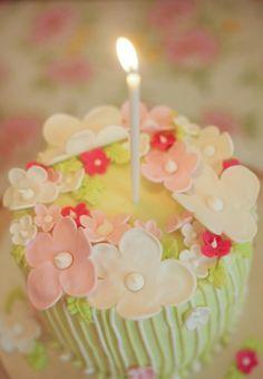 flowers + cake