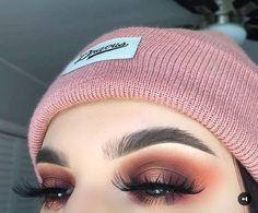 Bronze, rust, eye makeup