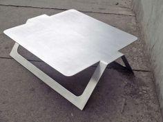 Pedro Ramirez Vazquez Metal Coffee Table rare image 2