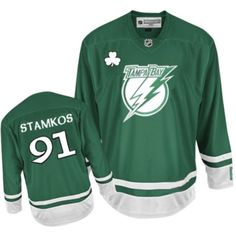 Reebok Tampa Bay Lightning  91 Youth Steven Stamkos Authentic Green St  Patty s Day NHL Jersey c0ef34f8a
