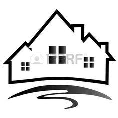 logotipo inmobiliaria: Casas silueta logotipo