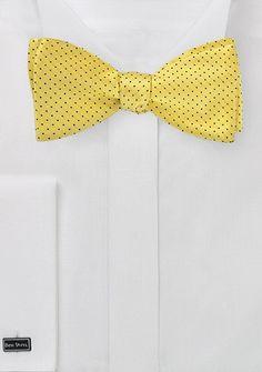 Sun+Yeldlow+Pin+Dot+Bow+Tie