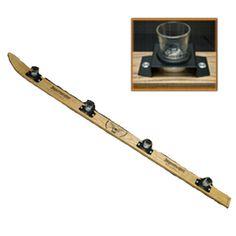 Wood Shot Ski - holds 4 shots - comes with 4 Jagermeister Shot Glasses