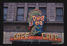 Ding Ho Restaurant sign, Salt Lake City, Utah | Library of Congress Vintage Wall Art, Vintage Walls, Retro Signage, Restaurant Signs, Salt Lake City Utah, Historical Photos, Vintage Photos, Neon Signs, America