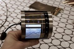 This is FlexEnable's futuristic OLCD flexible display