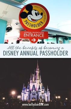 Are you trying to decide if you should get an Annual Pass to Walt Disney World? Here is a full list of all of the perks and benefits of becoming a Disney Annual Passholder! Depending on how many of these apply to your trip you can save money on your Disne Authorized Disney Vacation Planner, Disney Vacation Planning, Disney World Planning, Vacation Ideas, Disney World Parks, Walt Disney World Vacations, Disney World Resorts, Disney World Tips And Tricks, Disney Tips