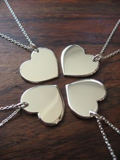 Best friends necklace for the fab four! I am also thinking I will engrave the back with each of our initials as well.. JMVE
