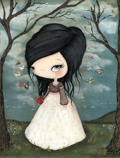 Snow White Print by thepoppytree on Etsy, $18.00