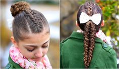 Twisted Edge Fishtail 2 in 1 hairstyle #fishtail #braid #cutegirlshairstyles #hairstyles #ponytail