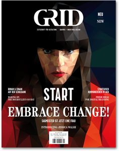Grid_cover_dropshadow art work Magazine cover graphic art