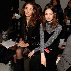 Sophia Sanchez and Laura Love. Seen at Rodarte. CELEBRITY FROW: AW15