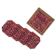 Amy Sia Floral Explosion Coaster Set | DENY Designs Home Accessories + 40% off POP SALE today only! Use code GOPOP40 at checkout